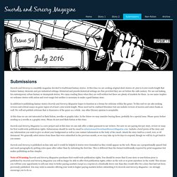 Submissions - Swords and Sorcery Magazine