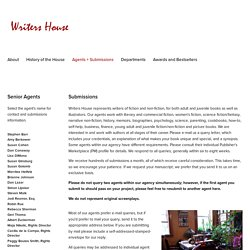 Agents + Submissions — Writers House, A Literary Agency