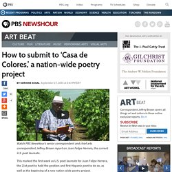 How to submit to 'Casa de Colores,' a nation-wide poetry project