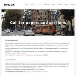 Submit - eura2016