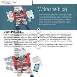 Submit a Guest Post – Think to Share