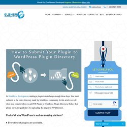 How to Submit Your Plugin to WordPress Plugin Directory?