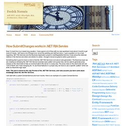 How SubmitChanges works in .NET RIA Servies - Fredrik Normén