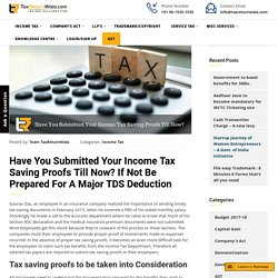 Have You Submitted Your Income Tax Saving Proofs Till Now?