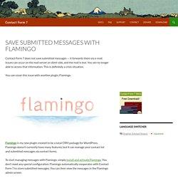 Плагин Flamingo для Contact Form 7