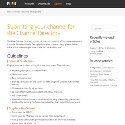 Submitting your channel for the Channel Directory