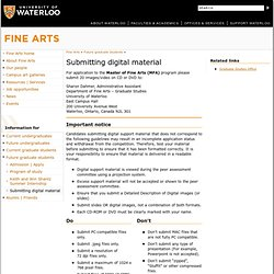 Department of Fine Arts | Faculty of Arts | University of Waterloo