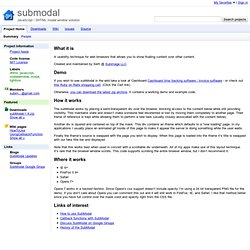 subModal DHTML Modal Dialog / Modal Window Test Page