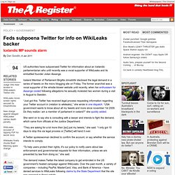 Feds subpoena Twitter for info on WikiLeaks backer