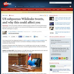 US subpoenas Wikileaks tweets, and why this could affect you