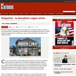 Subprime : la deuxième vague arrive