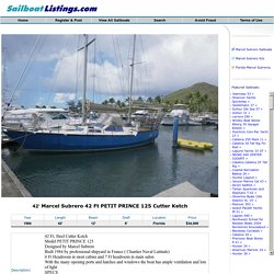 1984 Marcel Subrero 42 Ft PETIT PRINCE 125 Cutter Ketch sailboat for sale in Florida