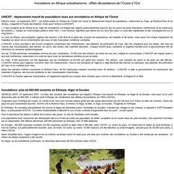 Inondations en Afrique subsaharienne : effets dévastateurs de l'Ouest à l'Est