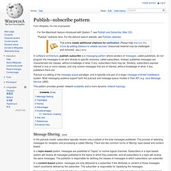Publish–subscribe pattern