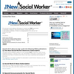 THE NEW SOCIAL WORKER Online - The Social Work Careers Magazine for Students and Recent Graduates - Articles, Jobs, & More - Subscribe to The New Social Worker Publications