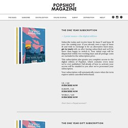 Subscribe — Popshot Magazine