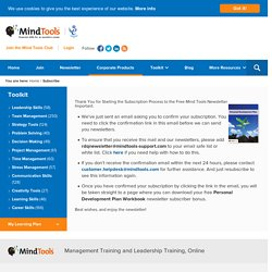 Subscribe to the Free Mind Tools Newsletter