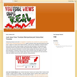 Jual Jasa Youtube Murah View Youtube