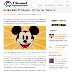 Sky Q And Now TV Subscribers Can Now Enjoy Disney Plus