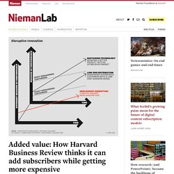 Added value: How Harvard Business Review thinks it can add subscribers while getting more expensive