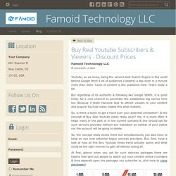Buy Real Youtube Subscribers & Viewers - Discount Prices - Famoid Technology LLC : powered by Doodlekit