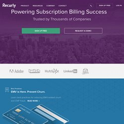 Subscription and Recurring Billing - Zen Simplicity - Recurly