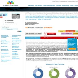 Subscription and Billing Management Market by Solution & Service - 2021