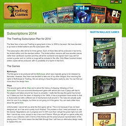 Subscriptions 2014 « Treefrog Games
