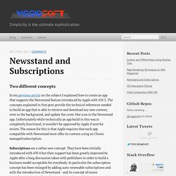 Newsstand and Subscriptions - Viggiosoft Blog