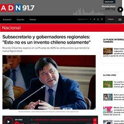 """Subsecretario y gobernadores regionales: """"Esto no es un invento chileno solamente"""""""