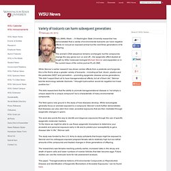 News Center - Variety of toxicants can harm subsequent generations