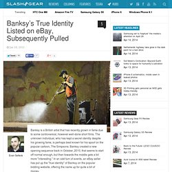 Banksy's True Identity Listed on eBay, Subsequently Pulled