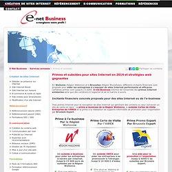 Subsides e-business (La Wallonie) et primes à l'export