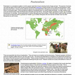 Patterns of Subsistence: Pastoralism