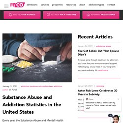 Substance Abuse and Addiction Statistics in the United States