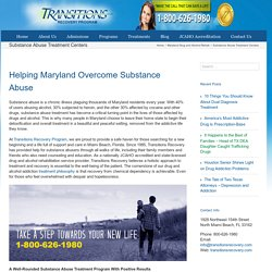 Substance Abuse Treatment Centers, Maryland (MD)