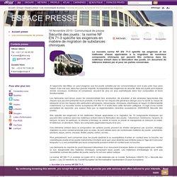 Sécurité des jouets : la norme NF EN 71-3 spécifie les exigences en matière de migration de substances chimiques / Les communiqués de presse / Espace presse / Groupe