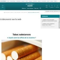 Tabac substances : Quels sont les effets de la nicotine ?