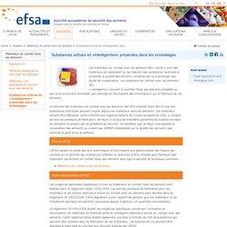 EFSA 13/12/13 Substances actives et «intelligentes» présentes dans les emballages