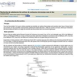 Recherche de substances bio actives de centaurea microcarpa coss et dur. - Maroua FERHAT