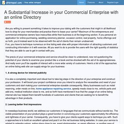 A Substantial Increase in your Commercial Enterprise with an online Directory