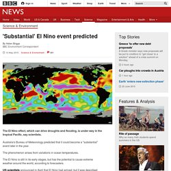 'Substantial' El Nino event predicted - BBC News