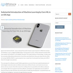 Substantial Introduction of Machine Learning by Core ML in an iOS App