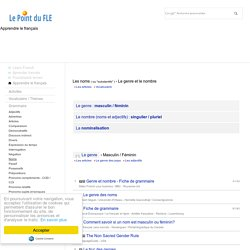 Les substantifs - Les noms / Genre, nombre, nominalisation - Ejercicios de francés