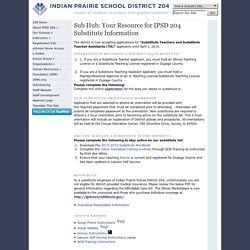IPSD 204: Sub Hub: Your Resource for IPSD 204 Substitute Information