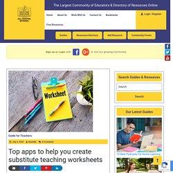 Top apps to help you create substitute teaching worksheets - All Digital School