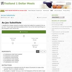 Thailand 1 Dollar Meals
