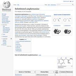 Substituted amphetamine