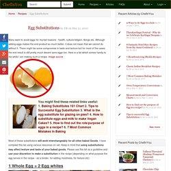 Vegan, Egg Free Substitutes