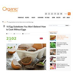 13 Egg Substitutes for Leavening, Binding or adding Moisture to Recipes